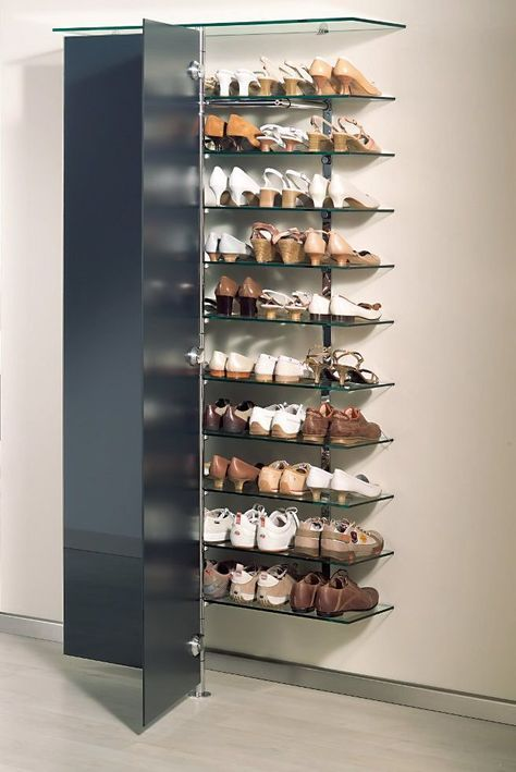 Elegantes Schuh Wandregal Mit Glasturen Elegantshoes Shoe Wall Room Storage Diy Shoe Storage Small Space