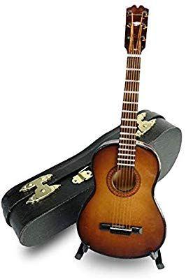1//8 Acoustic Guitar White Guitar Model Dollhouse Artist Offerings Decor #2