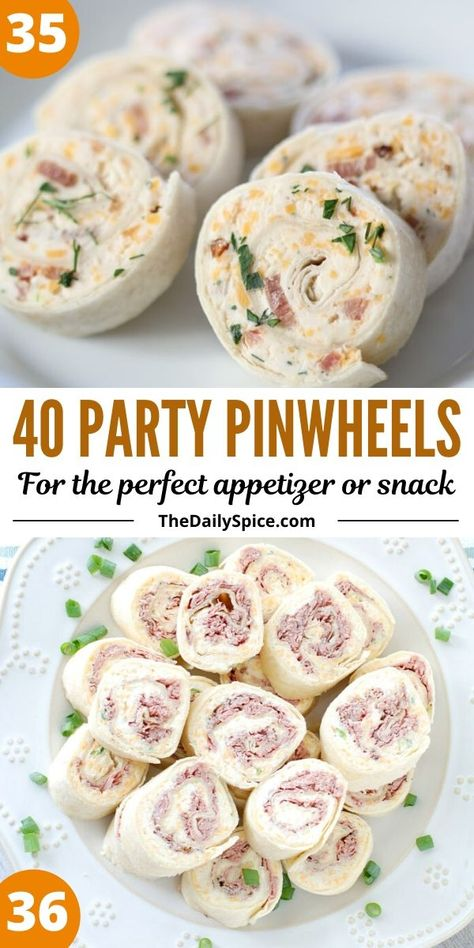 Party pinwheels are some of the easiest and quickest appetizers and bite sized snacks you can whip up in a few minutes to feed a crowd.