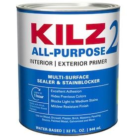 Zinsser Bulls Eye 1 2 3 Interior Exterior Multi Purpose Water Based Wall And Ceiling Primer Actual Net Contents 32 Fl Oz A In 2020 With Images Cover Stains Kilz Exterior Primer