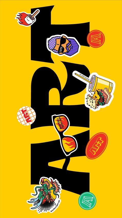Art Burger restaurant brand identity design by Fivestar Branding