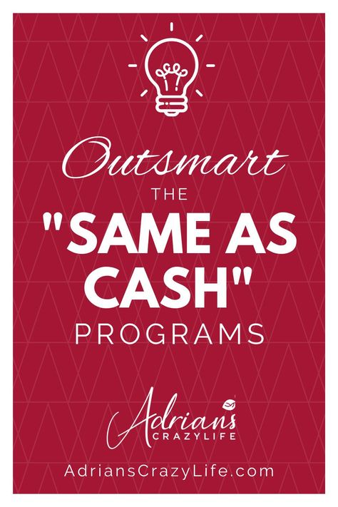 "Outsmart the ""Same as Cash"" Programs"