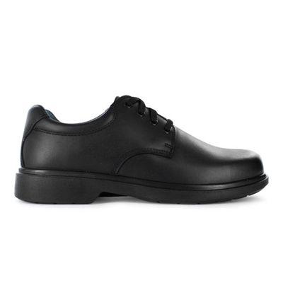 CLARKS DAYTONA (F) KIDS BLACK   Leather