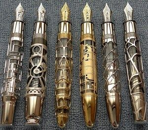 sonic screwdriver fountain pens... Holy fountain pens Batman I know what my dad is getting for his birthday.