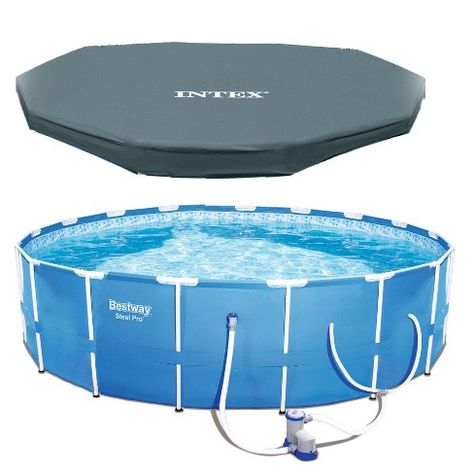 Bestway Steel Pro 12 X 30 Frame Above Ground Pool Set With Filter Pump Cover Target In Ground Pools Above Ground Pool Liners Above Ground Pool