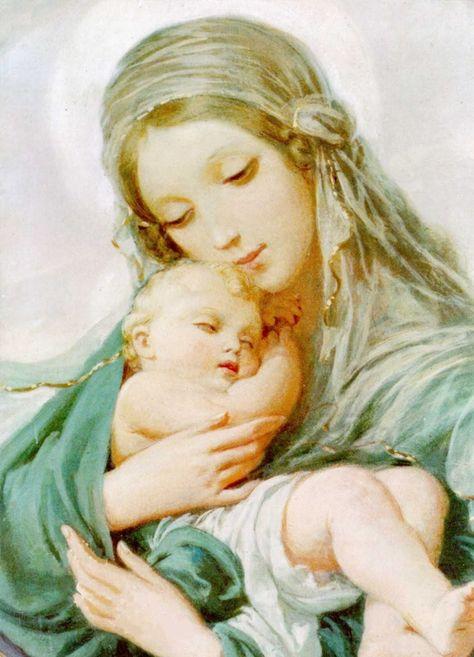 Дева с младенцем картинка
