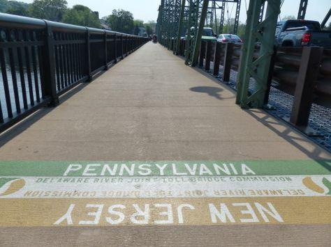 Bucks County- New Hope PA:NJ Line