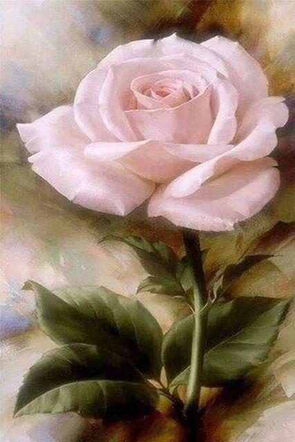 3d Bricolage Diamant Peinture Diamant Carre Embridery Seule Rose