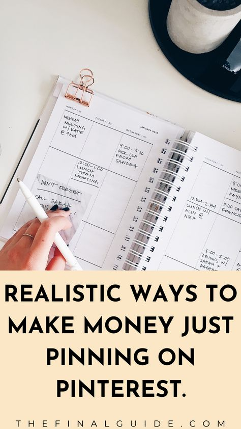 Realistic ways you can make money just pinning on pinterest