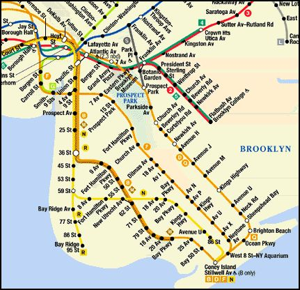 R Train Subway Map