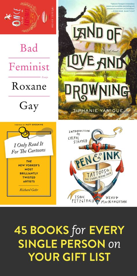 book gift ideas for ever person on your list