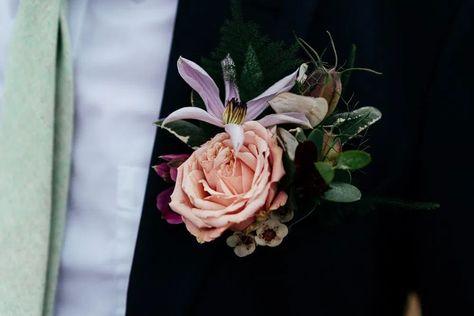Groom Buttonhole Flowers Rose Covid Real Wedding Holly Bobbins Wedding Photographer #Groom #Buttonhole #WeddingFlowers #Rose #CovidWedding #RealWedding #Wedding