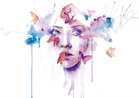 About A New Place Fine Art Print by Agnes Cecile. Authentic giclee print artwork on paper or canvas. Wall Art purchases directly support the artist.