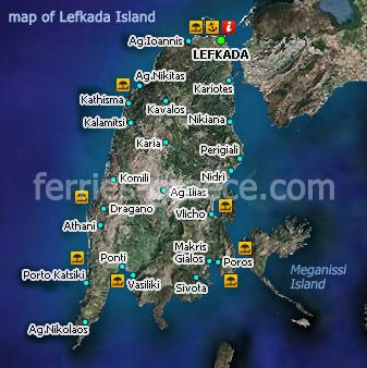 Afbeeldingsresultaat Voor Kaart Met Stranden Van Lefkas Kaarten