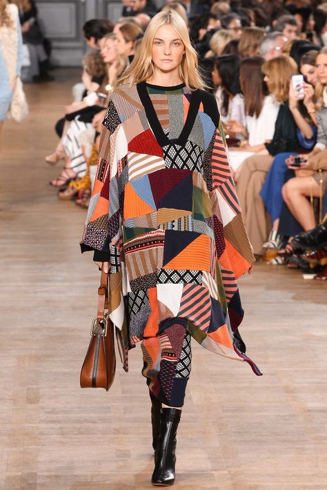 """Fall 2015 - """"I love patchwork. There is something about it that has a real artisanal element, that it comes from real craft. I like that it allows you to do color in a really interesting way because you can mix so many different, clashing elements. It ends up looking poetically beautiful and less precious at the same time."""""""