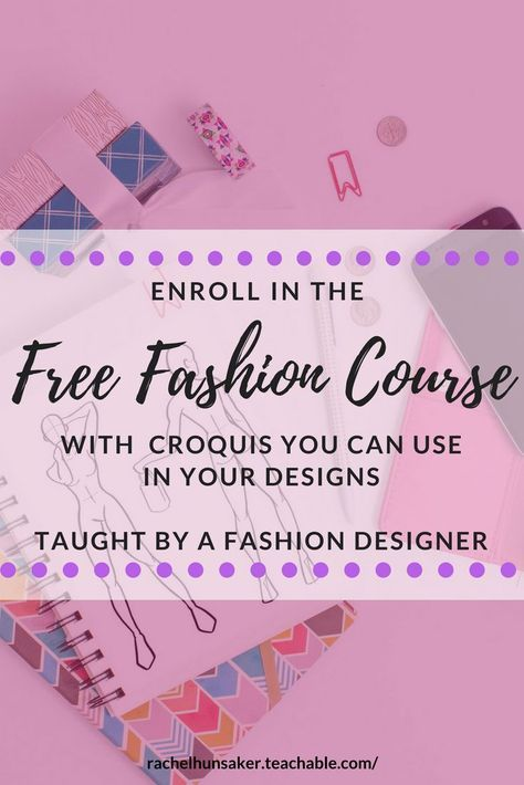 Learn How To Use Fashion Croquis In Your Designs Even If You Can T Draw People You Can Start Sketc Fashion Design Fashion Illustration Tutorial Sewing Lessons