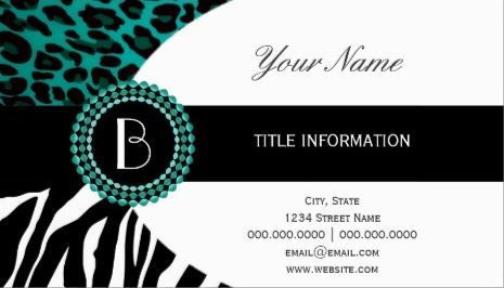 112 best girly animal print business cards images on pinterest stylish animal prints zebra and leopard patterns business card httpzazzle colourmoves Images