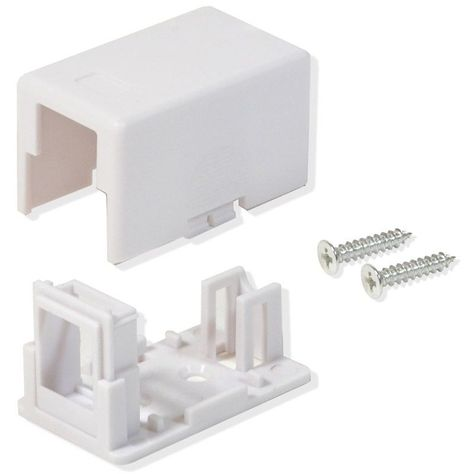 new in package 4 Port Keystone Jack Surface Mount Box White