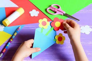 صور مطويات 2021 اشكال مطويات بالورق الملون Paper Crafts Flowers For Mom Card Making Kits
