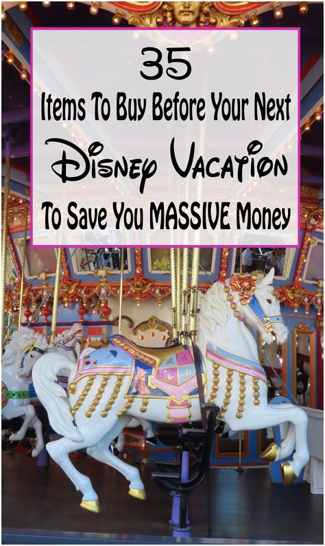 Check here to find out what to buy before you go on your Disney vacation. What to pack and what to leave at home. Secrets Disney, Disneyland Secrets, Disney World Tips And Tricks, Disney Tips, Disney Money, Disney On A Budget, Disney Ideas, Disney Stuff, Packing List For Disney
