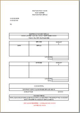 Independent Contract Work Invoice Invoice Template Invoicing Templates