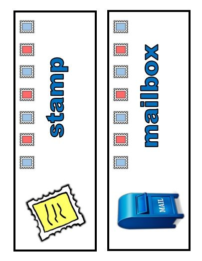 Mail Themed Word Wall Cards Classroom Centers Post Office Activities Activity Centers