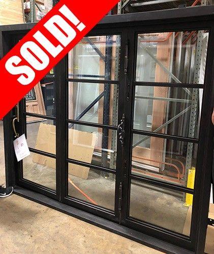 X91899 Wrought Iron Bifold Triple Door Patio Unit Cheap Interior Doors Doors Window Unit