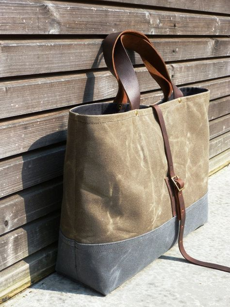 40b8bd3814e9 Recycled Canvas Tote Bag by Forestbound on Etsy. Canvas salvaged from a military  duffel bag