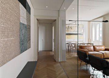 Divisorio+cucina+soggiorno+vetro | Cucina soggiorno, House e ...