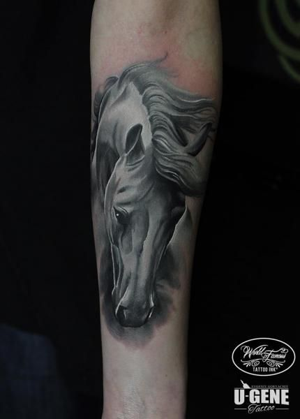 Tatouage Par Voice Of Ink Horse Tattoo Horse Tattoo Design Geometric Tattoo Horse