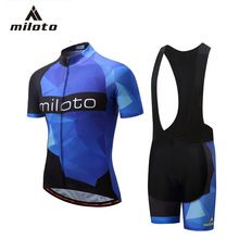 Miloto 2018 Men  s Cycling Jersey Suit Summer Short Sleeve Shorts  Sportswear Cycling Breathable Quick-drying Riding Equipment  1bf50f5ee