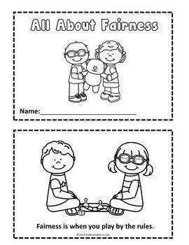 Character Education Fairness Activities Character Education Mini Books Education