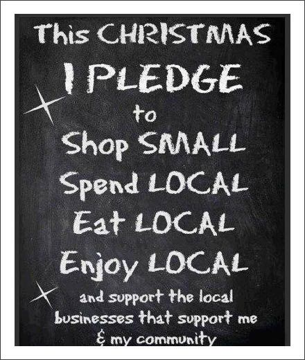 Shop Local Christmas Pledge in Chalk