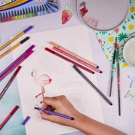 Happiness Happens Stabilo Diy Zeichnen Malen Geschenk Idee