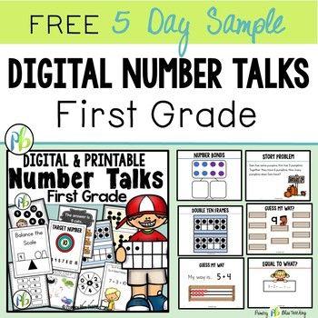 First Grade Digital Number Talks Free 5 Day Sample Number