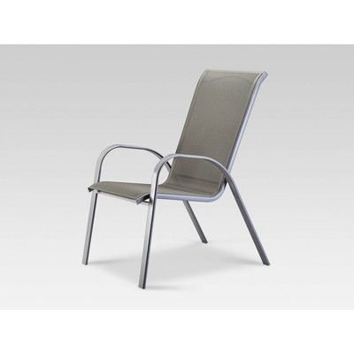 Stack Sling Patio Chair Gray Threshold Target Stacking Patio Chairs Outdoor Sling Chair Patio Chairs