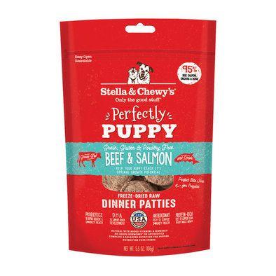 Puppy Beef Salmon Patties Freeze Dried Dog Food Grain Free