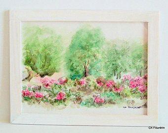 Cadre La Rose Mini Tableau Dans Son Cadre En Bois Naturel