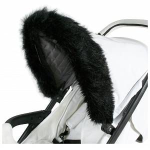 pushchairs luxury hood fur trim universal fit for most prams FAST DELIVERY