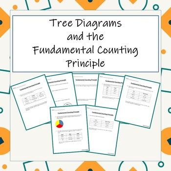 Tree Diagrams And The Fundamental Counting Principle Word Problems High School Fun Principles
