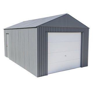 Everest Garage In Charcoal Steel Garage Metal Garages Roof Shapes