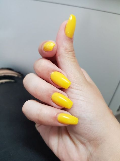 61 Trendy Yellow Nail Designs 2019  #2019 #designs #Nail #Trendy #Yellow French Nails