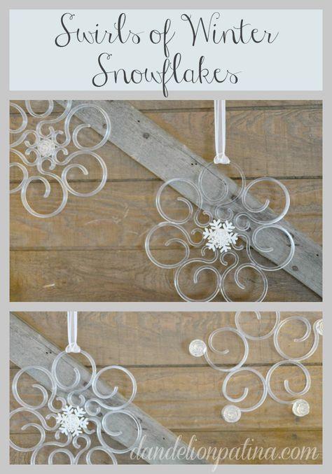 #DIY Create beautiful acrylic snowflakes using Christmas supplies and buttons. dandelionpatina.com (scheduled via http://www.tailwindapp.com?utm_source=pinterest&utm_medium=twpin&utm_content=post1015711&utm_campaign=scheduler_attribution)