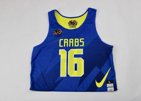 ca5a208fb63 Nike Crabs Lacrosse Reversible Mesh Training Tank Men s Large Blue Yellow  477462 (eBay Link)