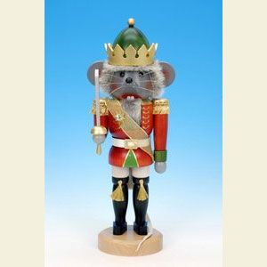 Ulbricht Traditional Mouse King Nutcracker - The Mouse King Nutcracker depicts a villainous figure from the Nutcracker Suite.