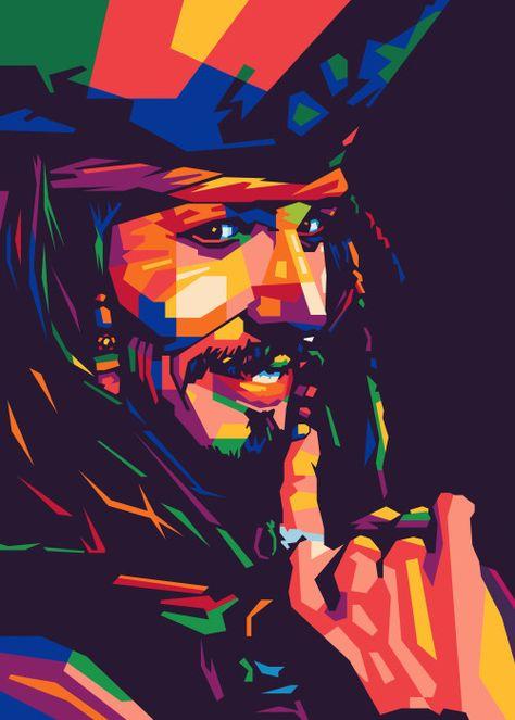 Jack Sparrow Poster Print by nyuwunsewu