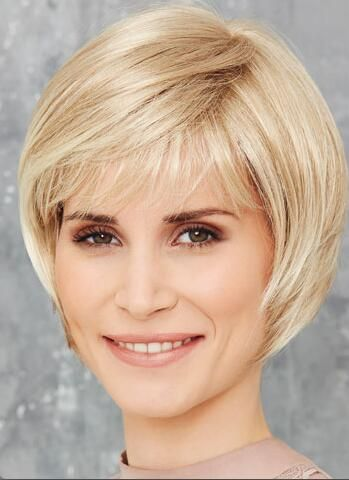 Women Wigs Blonde Short Straight Hair Bob Wigs With Bangs Amazon Co Uk Beauty Short Blonde Hair Wig Hairstyles Hair Styles