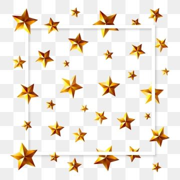 3d Style Gold Star Pattern Frame Background Png And Vector Frame Background Star Patterns Gold Stars