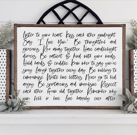 Love Story   Love guide   Love Quote   Farmhouse Bedroom Decor   Wedding Gifts   Rustic Wood Wall Ha