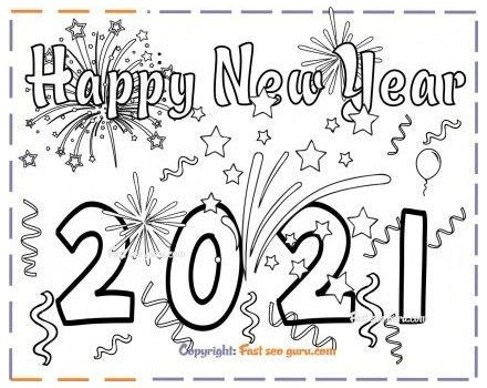 New Years 2021 Coloring Page For Kids Free Printable Coloring Pages For Kids New Year Coloring Pages Free Kids Coloring Pages Free Printable Coloring Pages